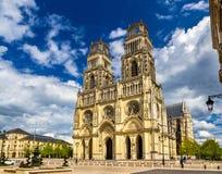 Vista da catedral de Orleans - França imagens de stock royalty free