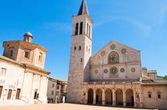 Vista da catedral de Spoleto Úmbria Imagem de Stock Royalty Free