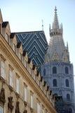Vista da catedral de St.Stephens (Viena) Fotografia de Stock