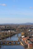 Vista da catedral de Worcester Imagem de Stock