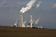 Vista da central energética de carvão Fotografia de Stock