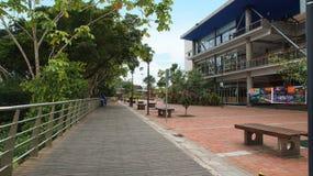 Vista da cidade da margem da coca A coca do EL é uma vila ao longo do rio de Napo Fotos de Stock Royalty Free