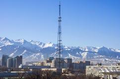 Vista da cidade de Almaty Foto de Stock