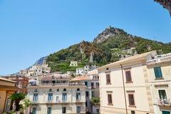 Vista da cidade de Amalfi Fotografia de Stock