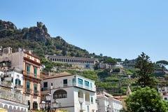 Vista da cidade de Amalfi Imagem de Stock