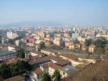 vista da cidade de Bríxia com fossa Bagni da rua fotos de stock royalty free