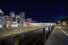 Vista da cidade de Brisbane de Southbank, Brisbane Foto de Stock Royalty Free
