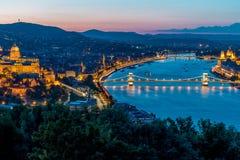 Vista da cidade de Budapest Fotografia de Stock Royalty Free