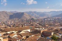 Vista da cidade de Cusco no Peru fotos de stock royalty free