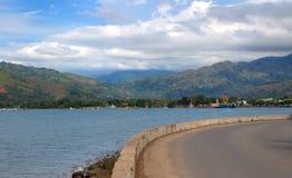 Vista da cidade de Dili em Timor Oriental Foto de Stock