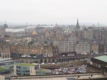 Vista da cidade de Edimburgo foto de stock