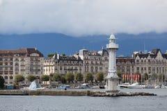 Vista da cidade de Genebra Imagens de Stock Royalty Free