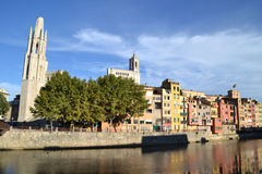 Vista da cidade de Girona, Espanha Foto de Stock