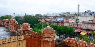 Vista da cidade de Jaipur, Índia imagem de stock