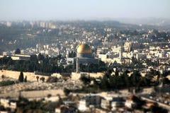 Vista da cidade de Jerusalem imagens de stock