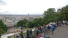 Vista da cidade de Montmartre em Paris video estoque