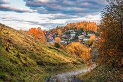 Vista da cidade de Plyos Imagens de Stock