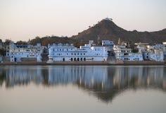 Vista da cidade de Pushkar Fotografia de Stock Royalty Free