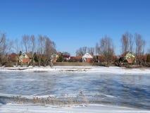 Cidade de Rusne, Lithuania foto de stock