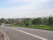 Vista da cidade de Salisbúria imagem de stock royalty free