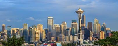 Vista da cidade de Seattle de Kerry Park, Washington Fotografia de Stock
