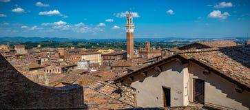 Vista da cidade de Siena Italia fotografia de stock