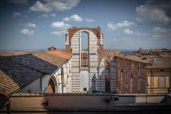 Vista da cidade de Siena Italia foto de stock royalty free