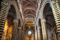 Vista da cidade de Siena Italia fotos de stock