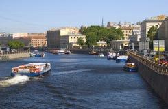 Vista da cidade de St Petersburg, Rússia Foto de Stock