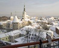 Vista da cidade de Tallinn Fotos de Stock Royalty Free
