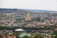 Vista da cidade de Tbilisi, Geórgia Fotografia de Stock Royalty Free