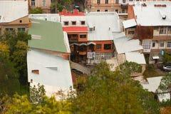 Vista da cidade de Tbilisi, Geórgia Fotografia de Stock