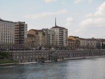 Vista da cidade de Turin fotos de stock