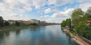 Vista da cidade de Turin foto de stock