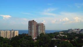 Vista da cidade de um voo do ` s do pássaro Foto de Stock Royalty Free