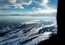 Vista da cidade de uma altura Fotografia de Stock Royalty Free