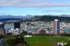 Vista da cidade de Wellington, Nova Zelândia imagens de stock royalty free
