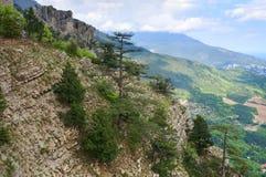 Vista da cidade de Yalta da inclinação da montagem de Aj-Petri Fotografia de Stock Royalty Free