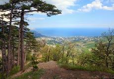 Vista da cidade de Yalta (Ucrânia) Imagens de Stock
