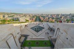 Vista da cidade de Yerevan fotos de stock