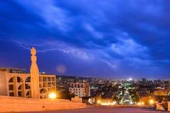 Vista da cidade de Yerevan fotografia de stock