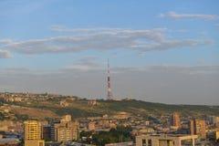 Vista da cidade de Yerevan foto de stock