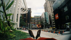 Vista da cidade do encontro Fotos de Stock