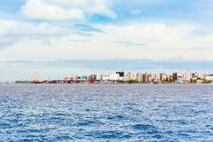 Vista da cidade do homem imagens de stock