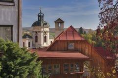 Vista da cidade do tiavnica do ¡ Åde Banskà Imagens de Stock