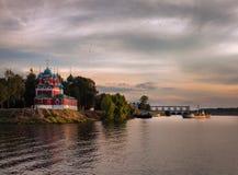 Vista da cidade em Uglich Rússia foto de stock royalty free
