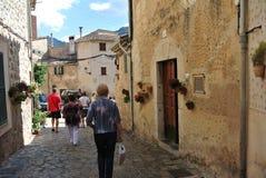Vista da cidade espanhola medieval antiga fotografia de stock royalty free