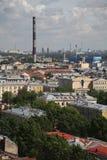 Vista da cidade europeia velha da altura do voo do pássaro St Petersburg, Rússia, Europa do Norte Imagens de Stock
