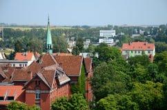 Vista da cidade (Gizycko no Polônia) Foto de Stock
