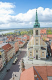 Vista da cidade Hall Tower, Torun fotografia de stock royalty free